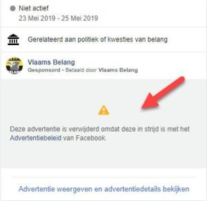 Facebook advertentiepolicy politieke advertenties
