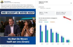 Facebook advertentie verkiezingen Vlaams Belang