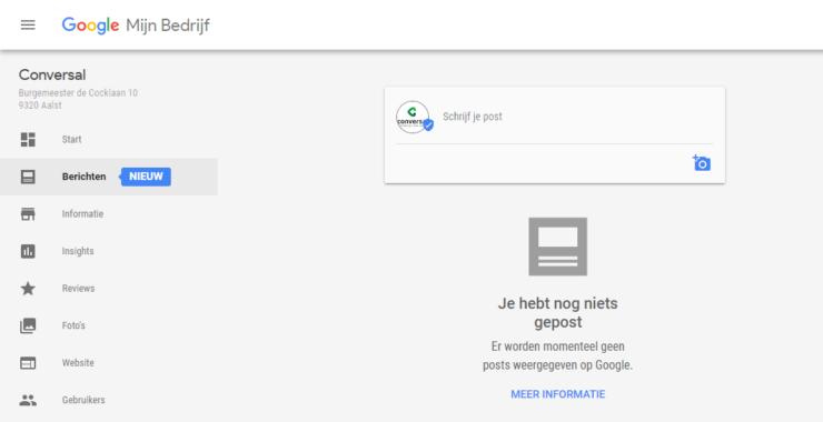 Google Berichten voor bedrijven