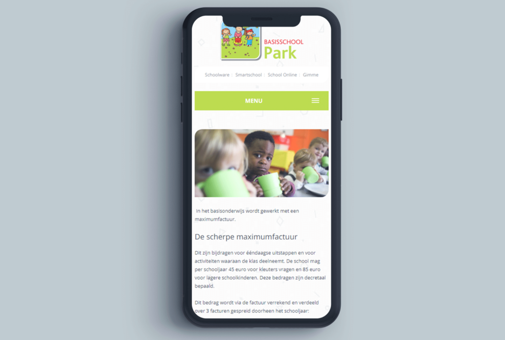 WordPress Webdesign Basisschool Park