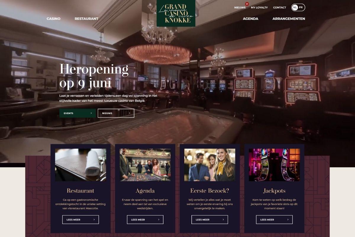Grand Casino Knokke website laten maken