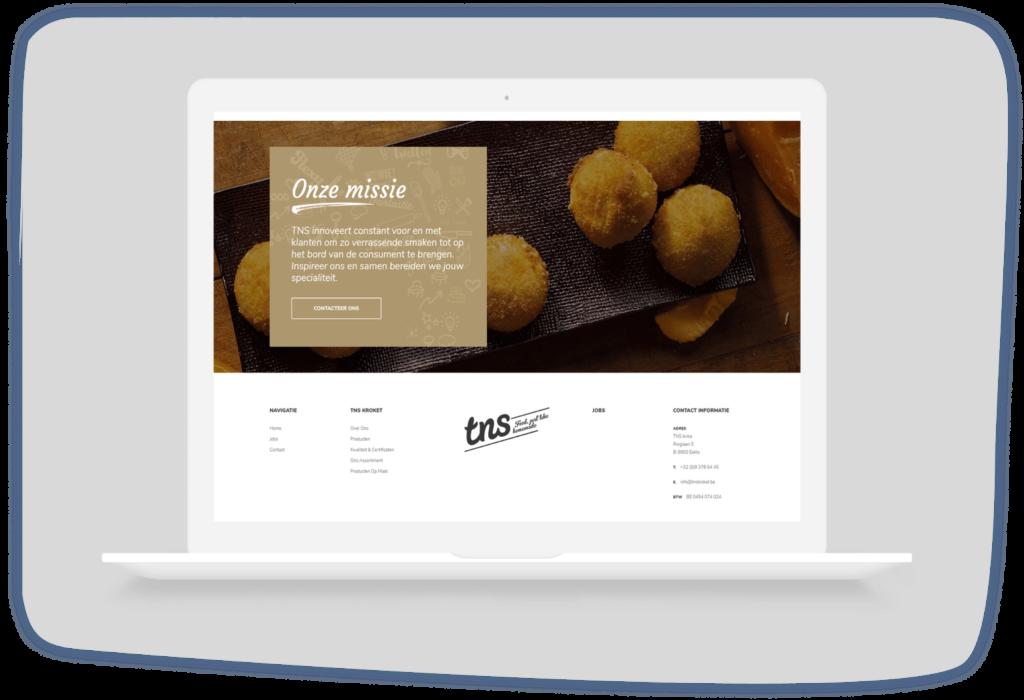 Wordpress maatwerk website - TNS kroket