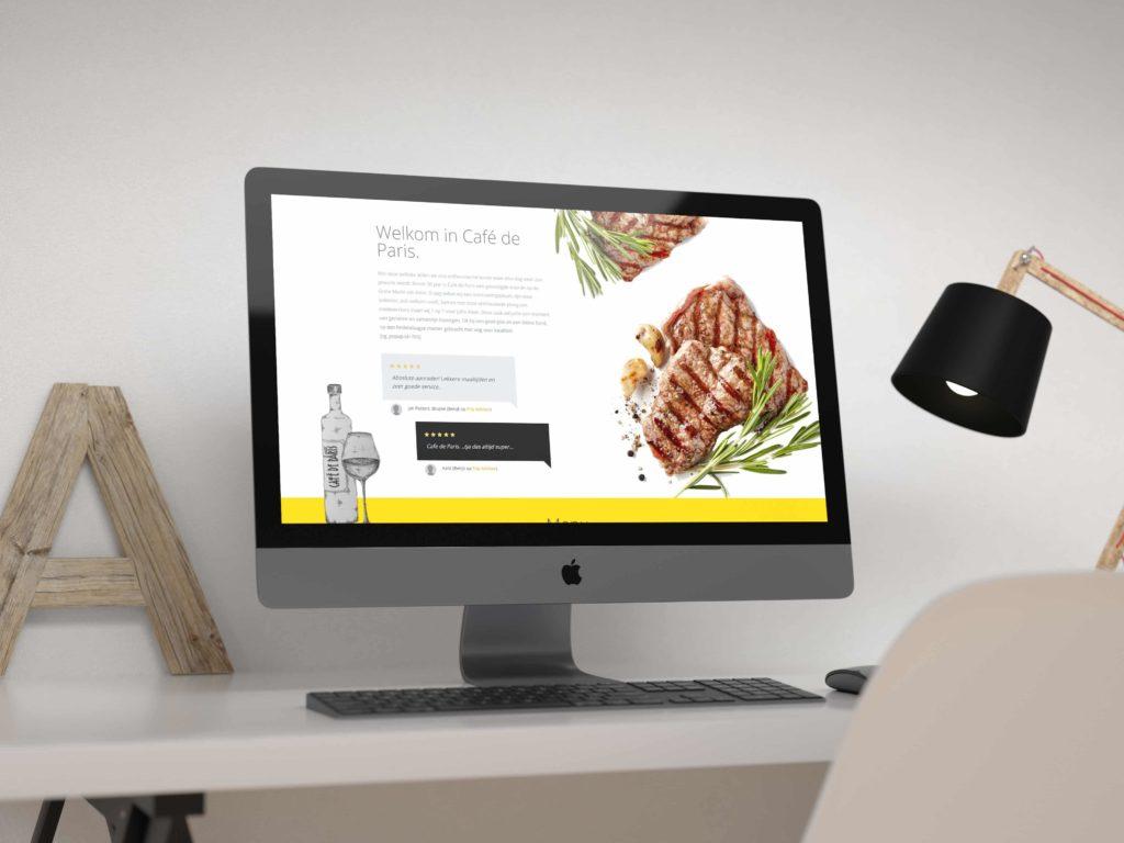 Website ontwerp Café De Paris