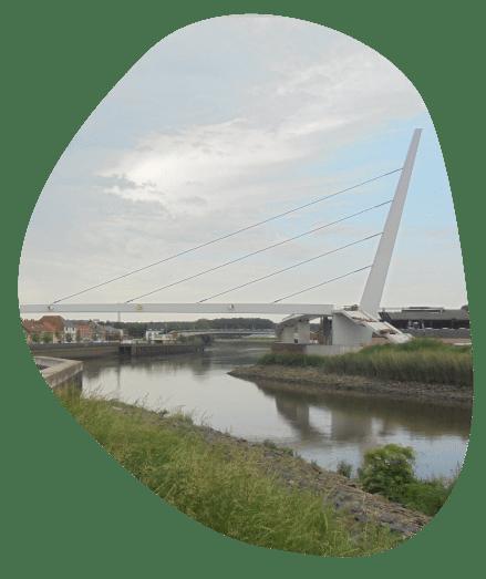 Fiets- en voetgangersbrug Wetteren