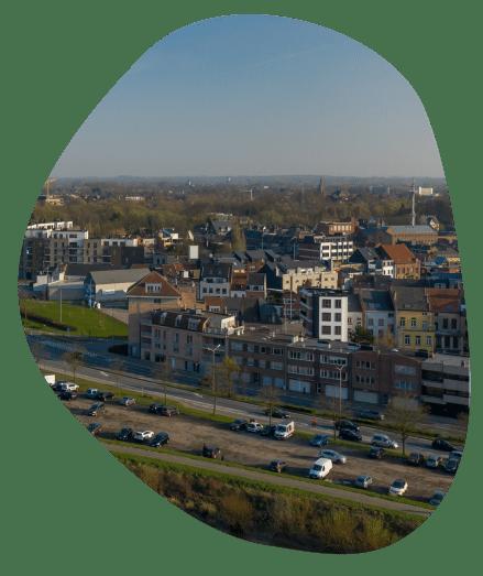 Uitzicht stad Dendermonde