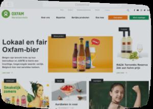 Oxfam door webdesign bureau Conversal