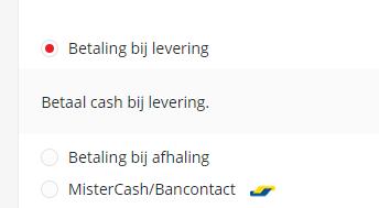 Webshop betaalmogelijkheden
