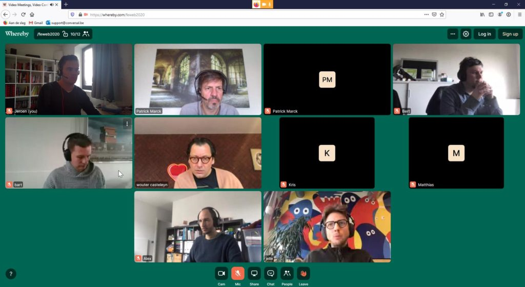 Videocall met concullega's