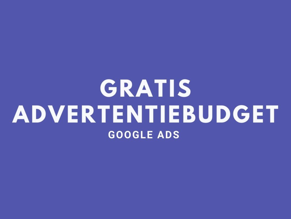 Advertentiebudget Google Ads
