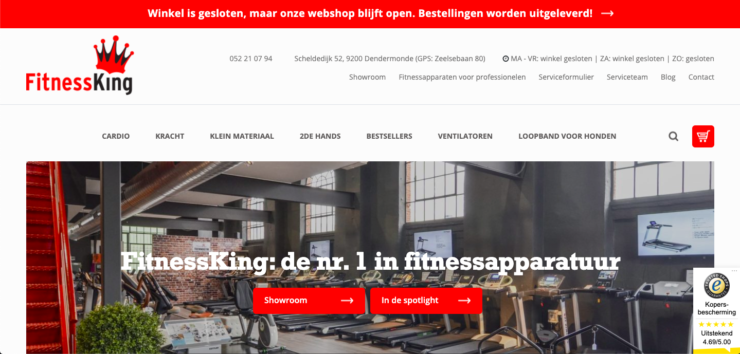 Fitnessking webshop