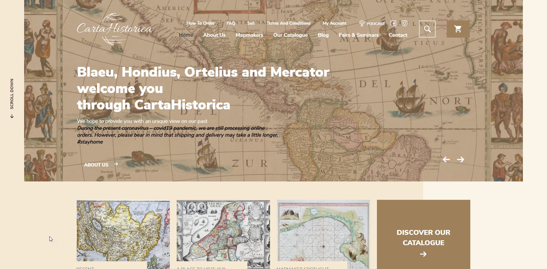 WordPress website laten maken carta historica