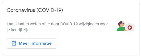 Covid-19 update in Google My Business