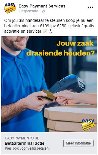 Easy Payment Services Facebook advertentie betaalterminal kopen