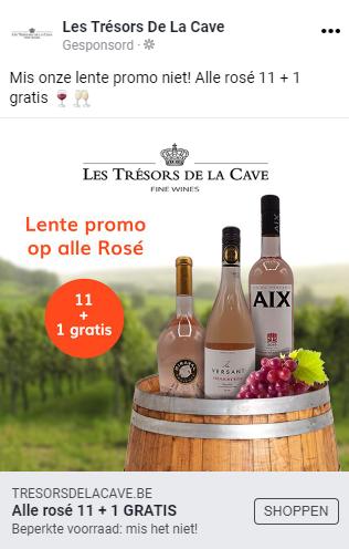 Les Trésors De La Cave Facebook advertentie