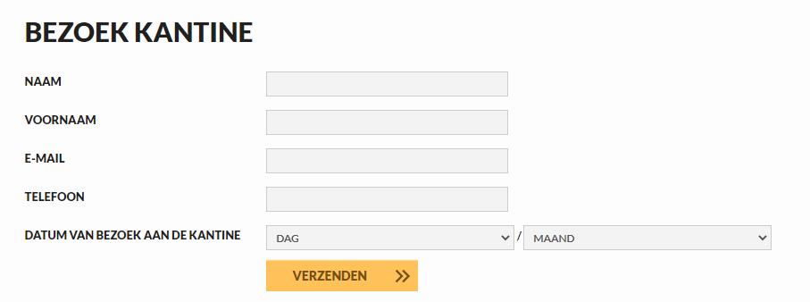 QR-code naar registratieformulier voor contact tracing bij Eendracht Aalst Ladies
