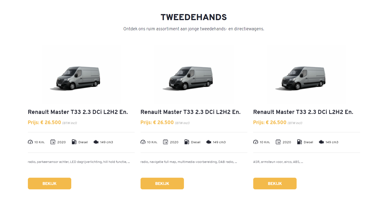 Renault Van Damme Wieze tweedehandswagens