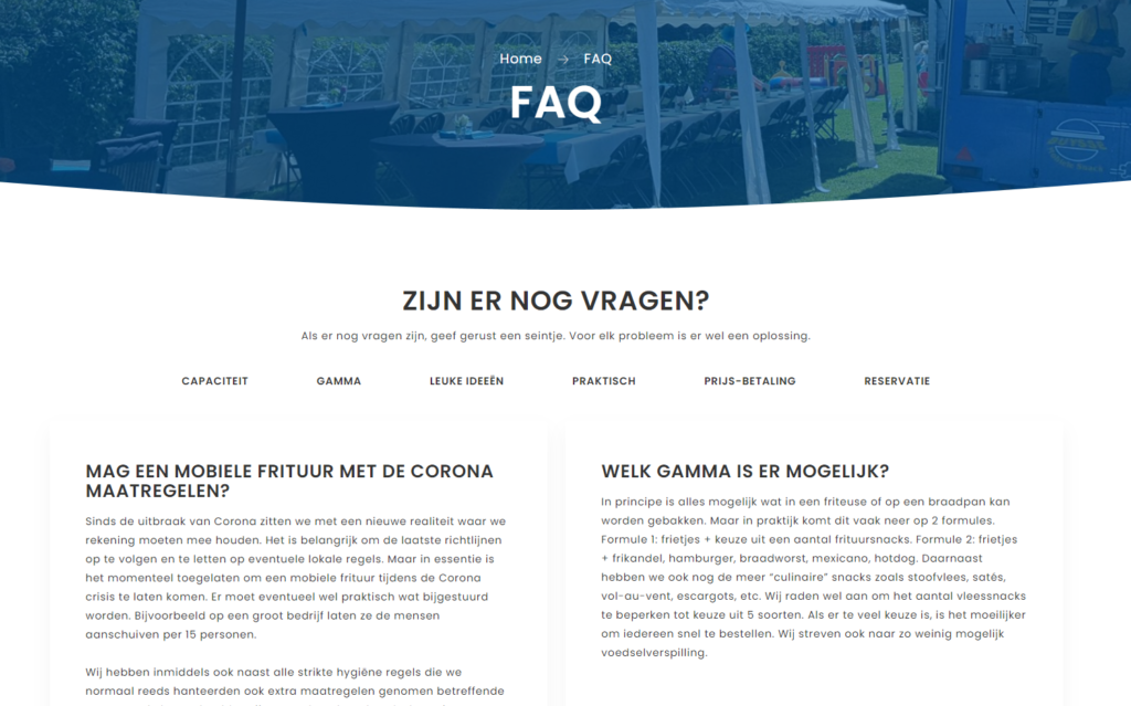 BM Snacks FAQ sectie