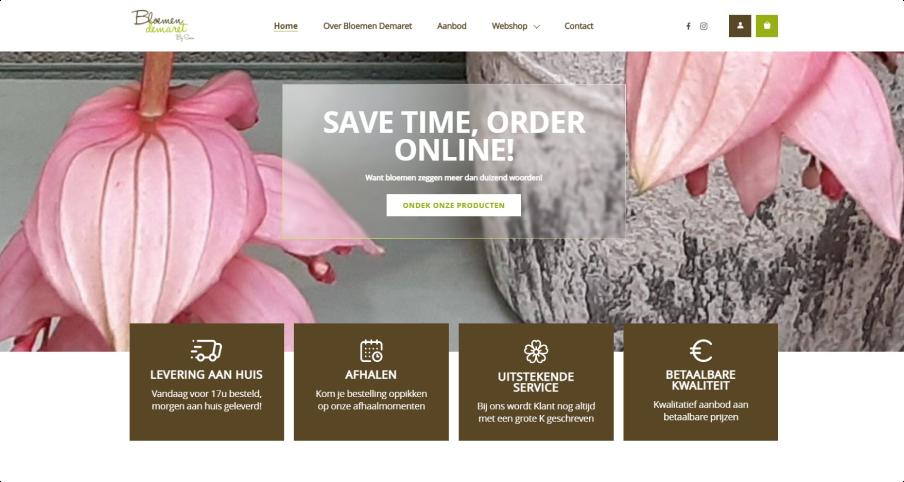 Bloemen Demaret homepagina