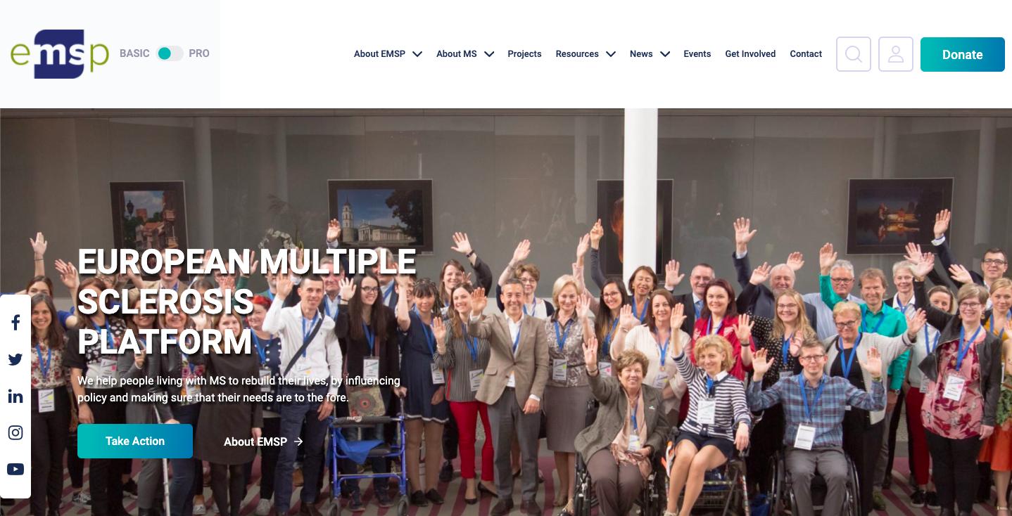 Een functionele website zoals die van EMSP.org?