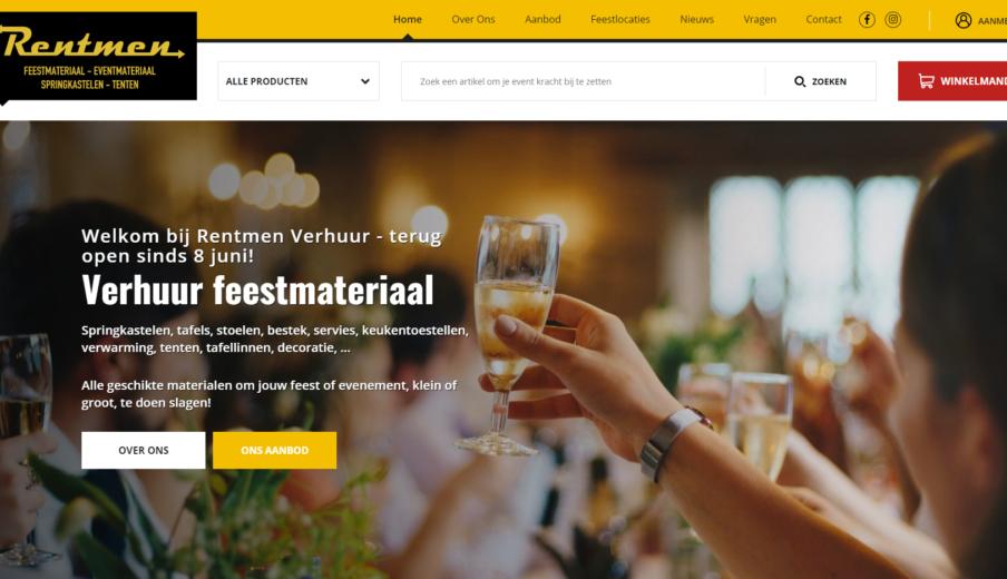 Website Rentman Oost-Vlaanderen