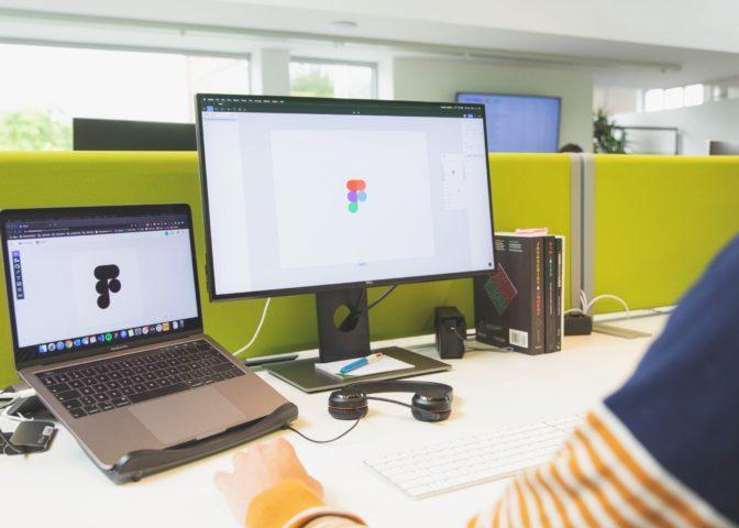 Designer aan het werk