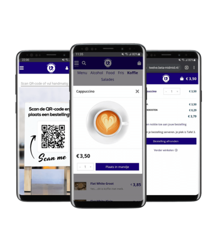 Online bestellen en betalen met 12Waiter app
