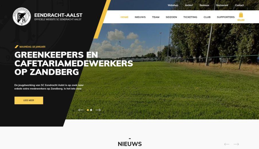 Eendracht Aalst Nieuwe Website