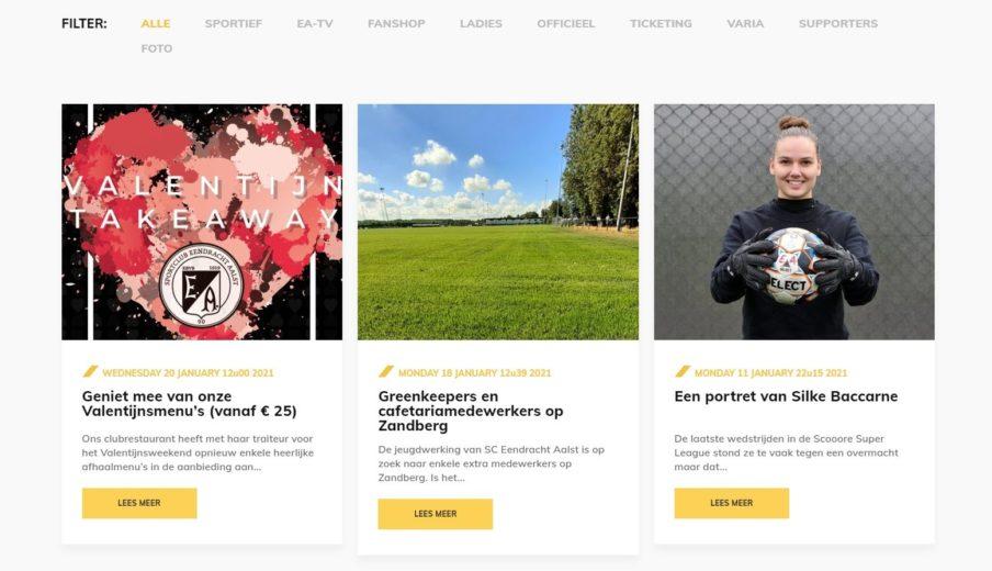 Eendracht Aalst Nieuwe Website Nieuws