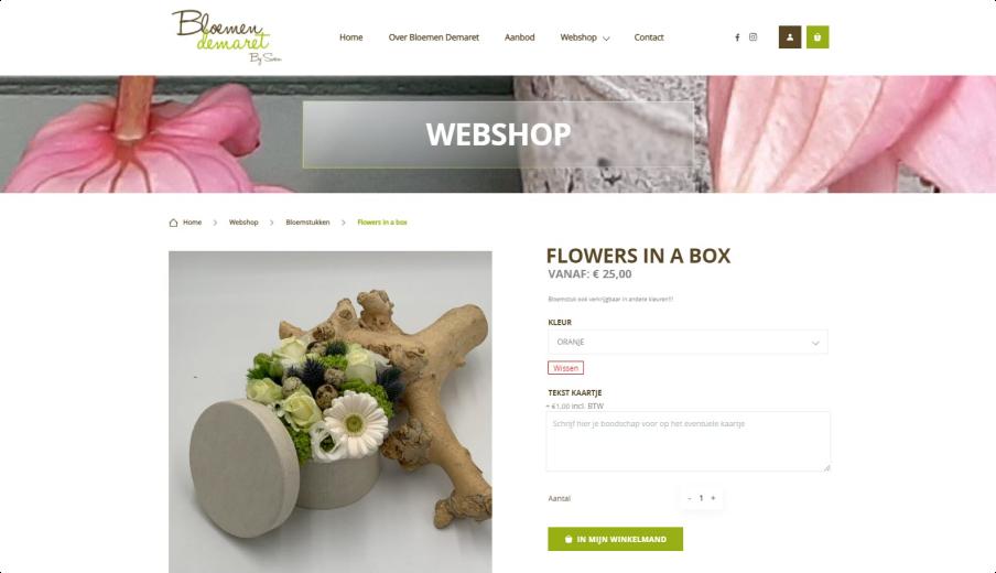 Bloemen Demaret productpagina