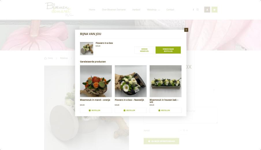 Bloemen Demaret product aan winkelmandje toevoegen