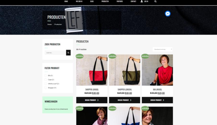 Wordpress Woocommerce MevrouwLEF