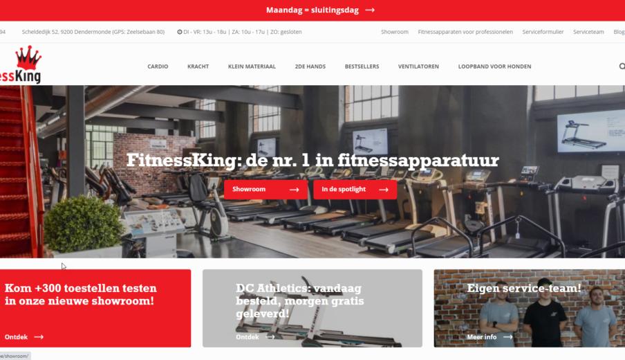 WordPress webshop Fitnessking