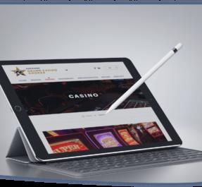 WordPress website laten maken tablet grand casino