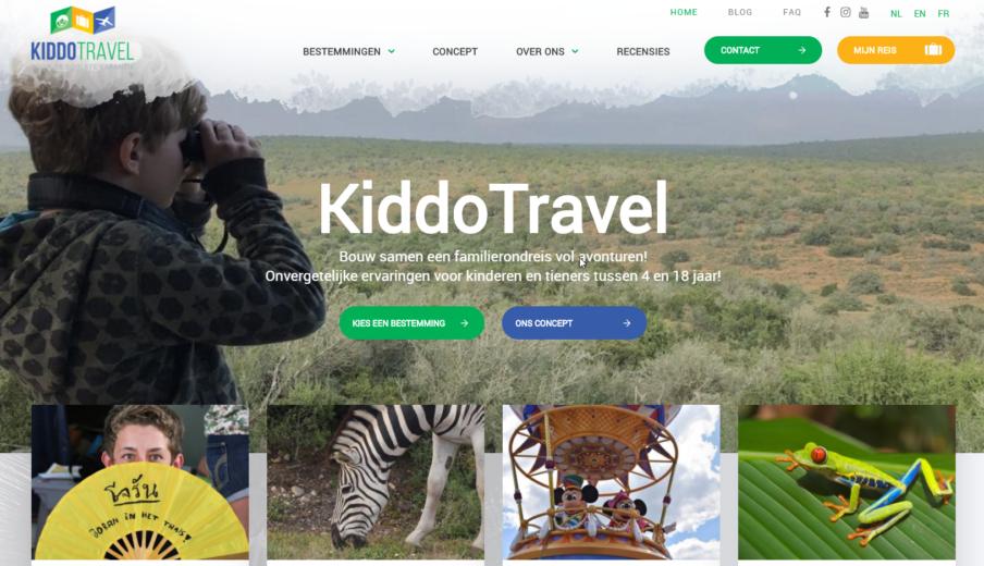 WordPress website laten maken kiddo travel