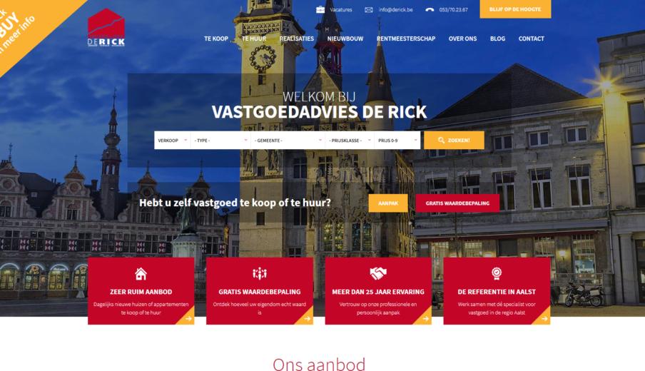 Website ontwerpen Vastgoed DeRick