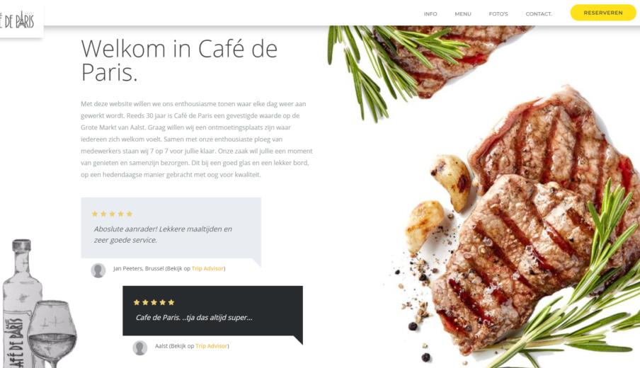 Website bouwen CafeDeParis