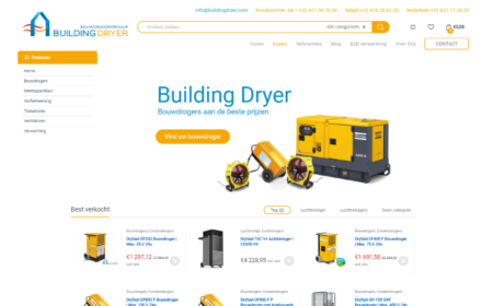 Webshop Bouwen BuildingDryer
