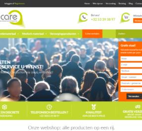Webshop Ontwikkelen Tomcare