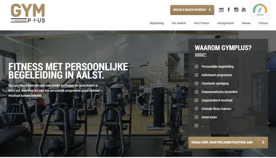 WordPress webdesign GymPlus