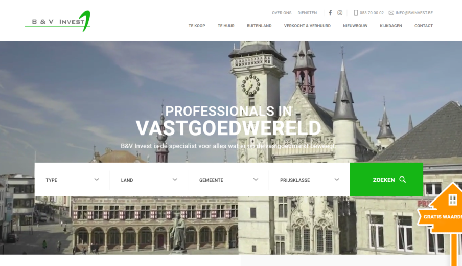 WordPress Ontwikkelaar Van B&v Invest