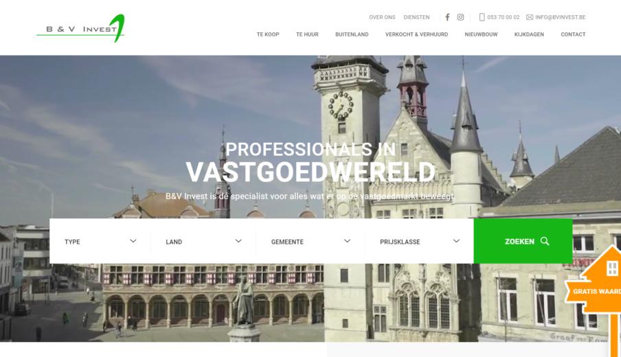 Maatwerk Website B&VInvest