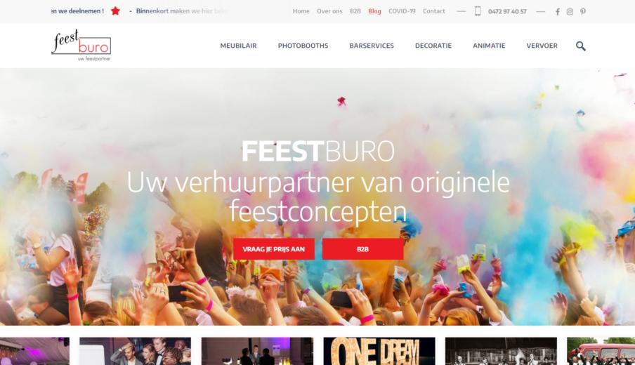 Maatwerk Website Feestburo