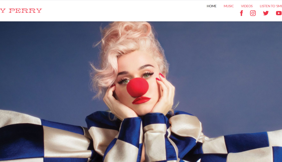 Website Katy Perry in WordPress