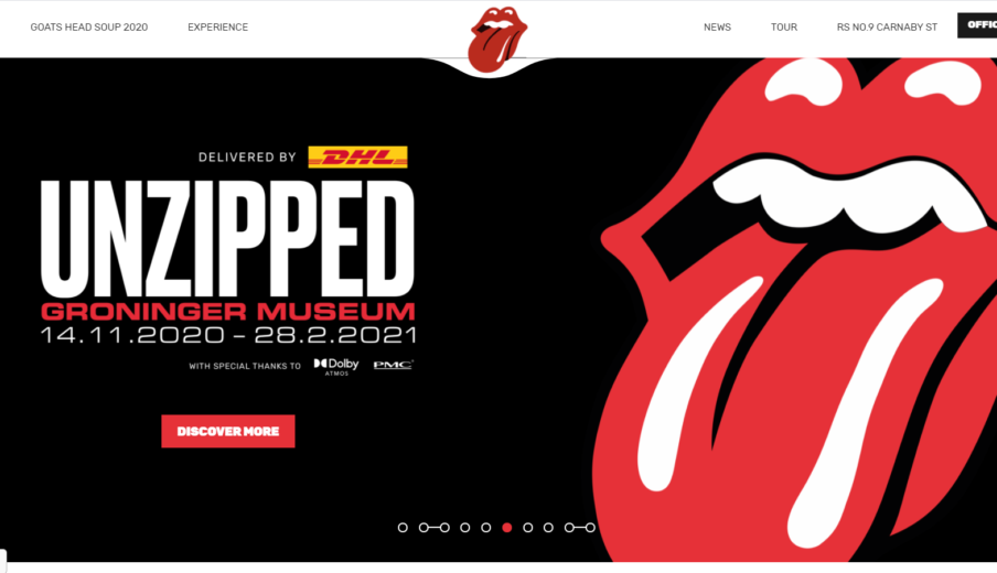 Website Rolling Stones in WordPress