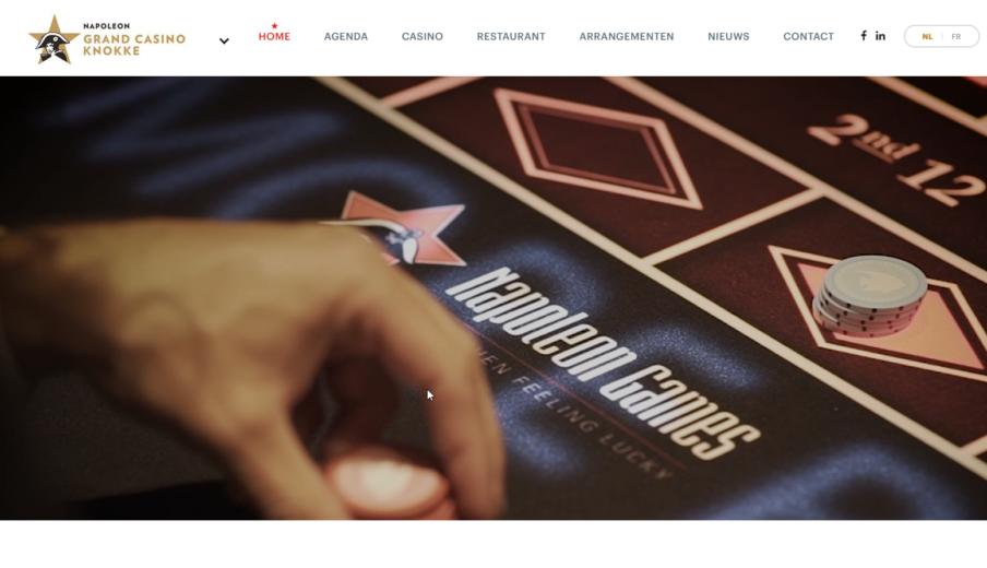 Website laten maken Grand Casino Knokke