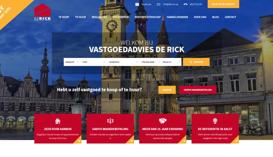 Website laten maken Immo De Rick