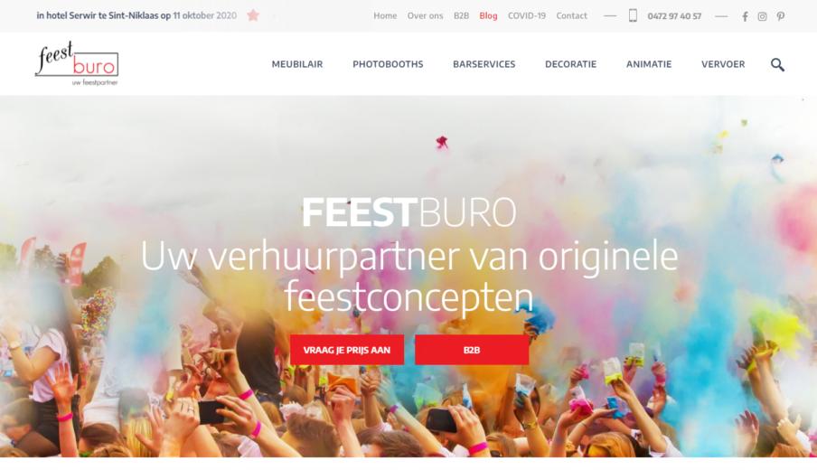 Website laten maken Feestburo