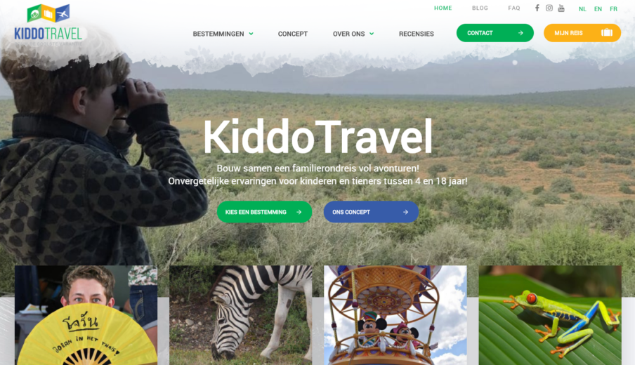 Website laten maken KiddoTravel