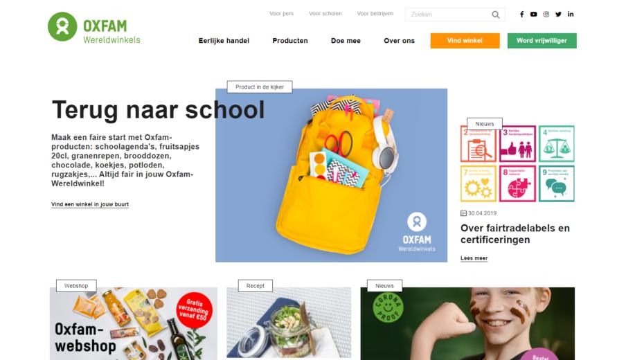 Website laten maken Oxfam Wereldwinkels