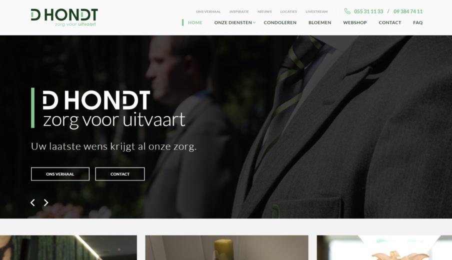 Website laten maken Uitvaart D'hondt